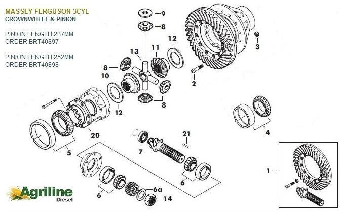Massey Ferguson 135 Diff Parts