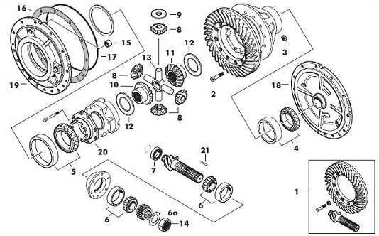 massey ferguson 165 differential