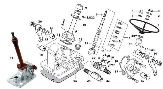 Steering on Power Steering Gear Box