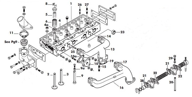 Cylinder head detail on ford steering box diagram