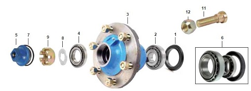 Ford 5000 Front Axle Parts. Ford 5000 Front Wheel Hub Detail. Ford. Ford 5000 Parts Diagram Front Axel At Scoala.co