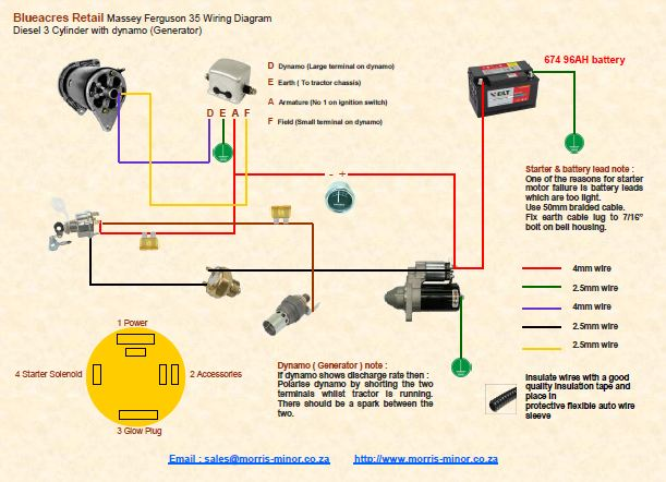 Wiring Diagram For Ferguson To 35 Tractor on oliver 1650 wiring diagram