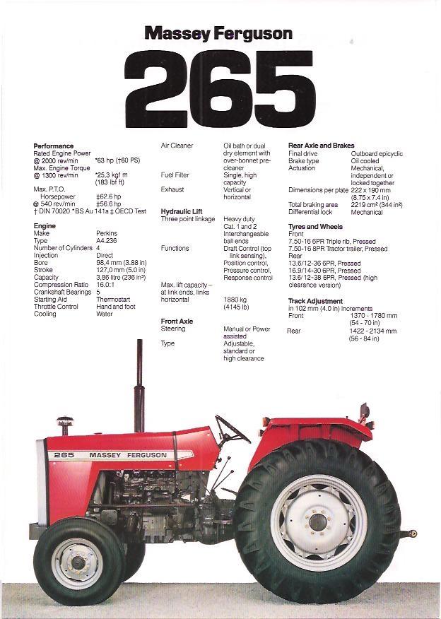 Mf 275 Tractor Data : Massey ferguson specs pixshark images