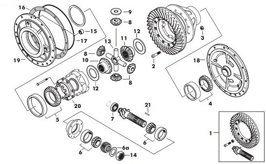 massey ferguson 265 differential