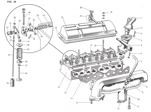 Engine ferguson tea 20 cylinder head detail ferguson te20 wiring diagram at aneh.co