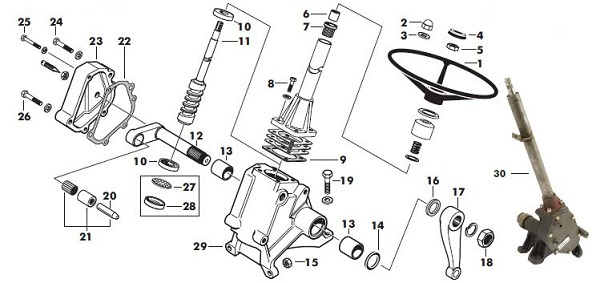 Massey Ferguson 65 Parts Diagram : Massey ferguson steering box parts
