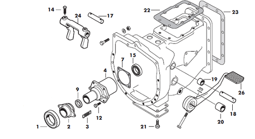 massey ferguson 240 bell housing parts