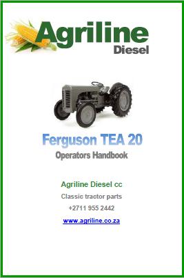 Ferguson TE Operators Manual